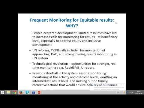 UNDAF innovations Real Time Monitoring
