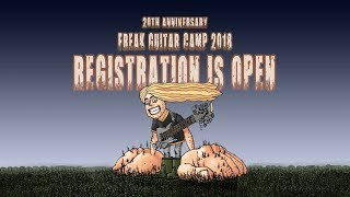 Freak Guitar Camp 2018 - open for registration!