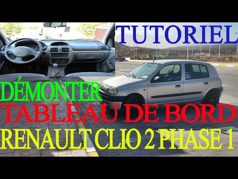 d montage tableau de bord renault clio 2 phase 1 tutoriel youtube. Black Bedroom Furniture Sets. Home Design Ideas