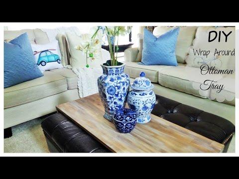 DIY | Wrap Around Ottoman Tray
