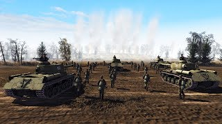 SIEGE of Budapest 1944, SECOND WAVE Pounds German TRENCH LINE | Men of War: Assault Squad 2 Gameplay