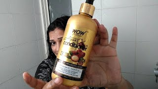 WOW Moroccan Argan Oil Hair Conditioner Review in Hindi | conditioner for Dry Hair #peoductreview