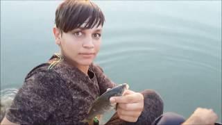 صيد الاسماك بالسنارة في نهر الفرات 2