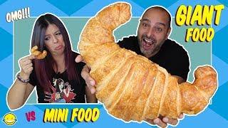 GIANT FOOD vs MINI FOOD Comida Gigante vs Comida Mini Momentos Divertidos