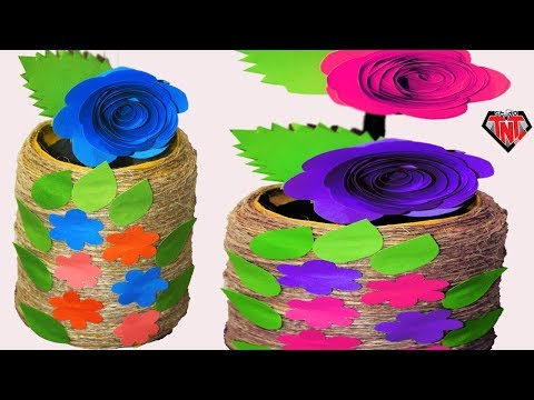 DIY Yarn Wrapped Beer Can Flower Vase || How To Make Decorated Flower Vase