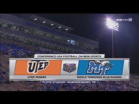 November 4, 2017 - UTEP Miners vs. Middle Tennessee Blue Raiders Full Football Game 60fps