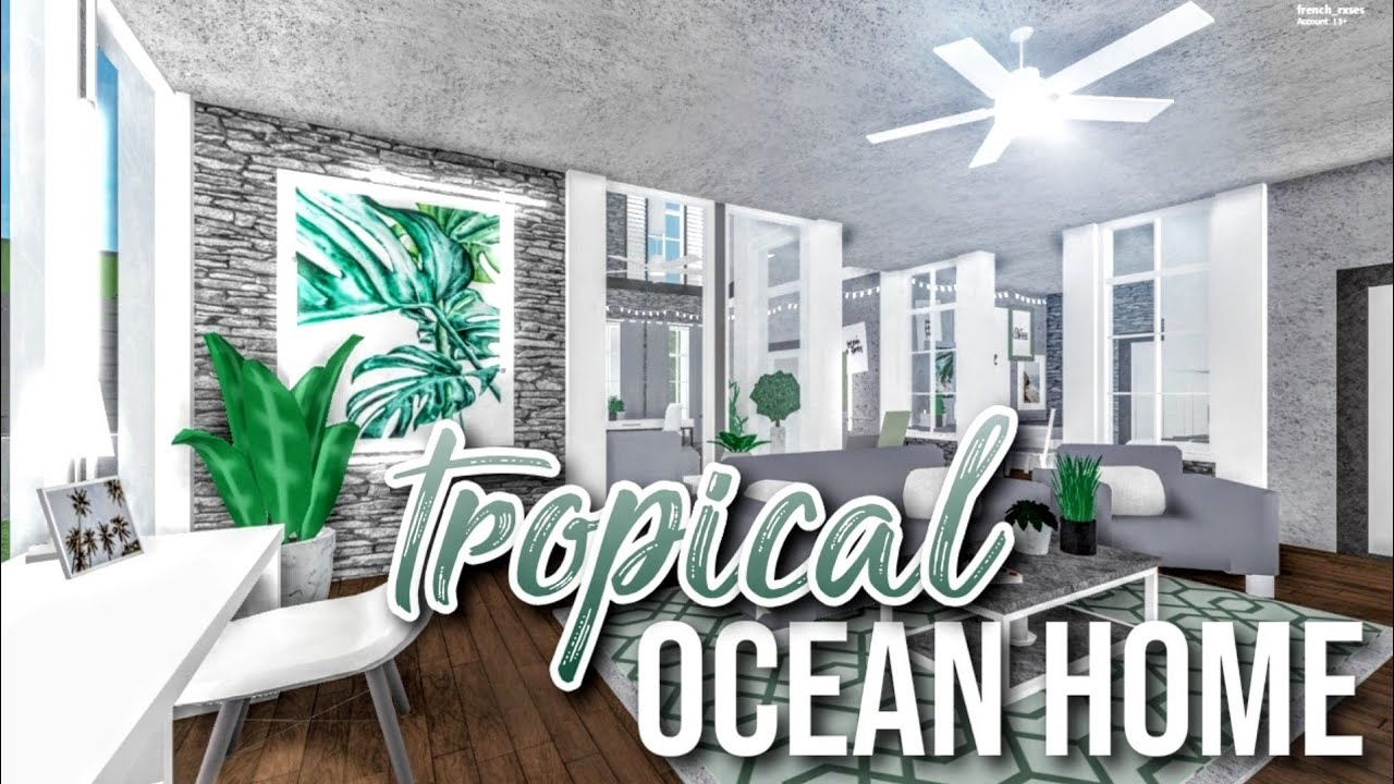 Bloxburg Tropical Ocean Home 51k Youtube