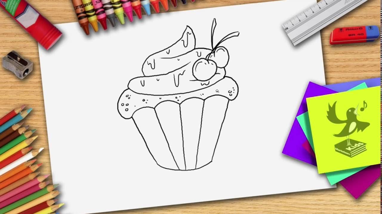 Wie Zeichnet Man Eine Cupcake Cupcake Zeichnen Lernen Youtube