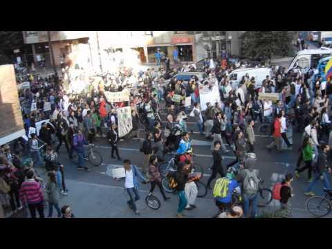 Free Trade Protest in Bogota, Colombia