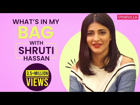 What's in my bag with Shruti Haasan  S02E08  Fashion  Pinkvilla