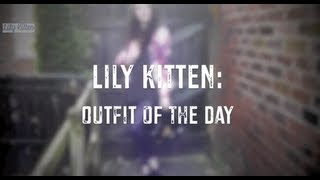 Lily Kitten: OOTD Galaxy Print & Purple Disco Pants Thumbnail