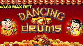 Dancing Drums Slot $8.80 Max Bet Bonus WON   White Tiger Slot Machine Max Bet Live Play
