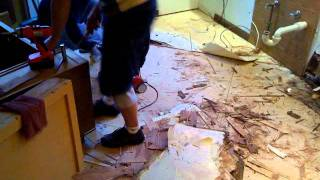 2-Ripping up the kitchen