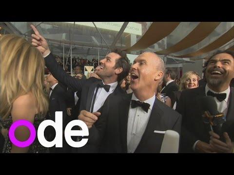 Oscars: Hilarious video of Birdman cast reacting to the red carpet rain!