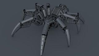 Cinema 4d: Видео урок робот паук [Превью]