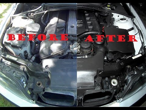 Proper Cleaning and Restoring the Engine Bay on BMW