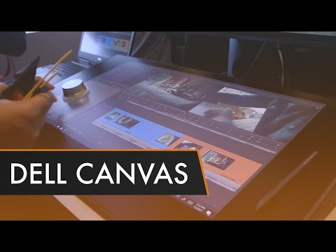 Dell Canvas Hands-On - A Surface Studio Alternative? |  CES