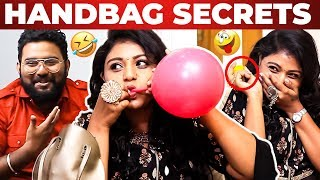 VJ Sasikala Handbag Secrets Revealed by Vj Ashiq | What's Inside the Handbag?