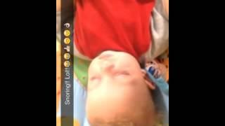 Kayden snoring lol 6 months old