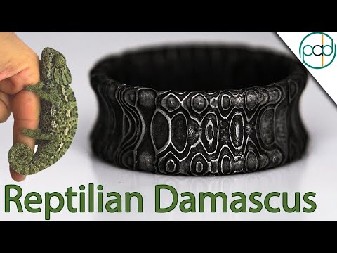 Making a Reptilian Damascus Steel Ring