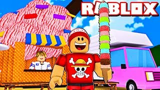 I made the biggest ice cream and EARNED $1 million + in ROBLOX → Ice Cream Simulator 🎮