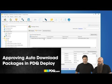 Approving Auto Download Packages in PDQ Deploy