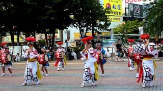 2011/8/4伝統さんさ踊り競演会 盛岡駅前滝の広場会場にて.