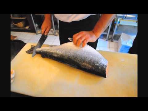 How to fillet Salmon : แล่ปลา โดย ป๋าปึกส์