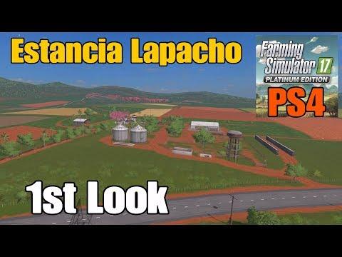 Let's Play Farming Simulator 17 PS4: Platinum Edition, Estancia Lapacho (1st Look Map Tour!)