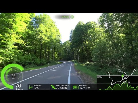 45 Minute Fat Burning Virtual Cycling Workout with Cadence and Speed Display 4K