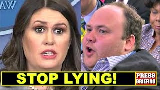 Reporter Surprises Sarah Sanders & caIIs her out for Iying thumbnail