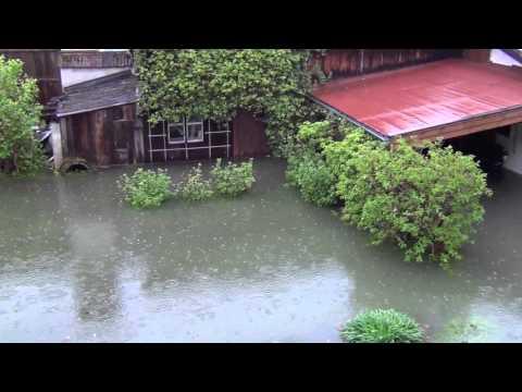 Hochwasser Mai 2013 am Tegernsee, Bayern, Deutschland