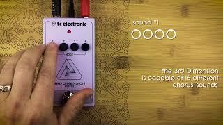 P&B Pedal Tones - 3rd Dimension chorus by TC Electronic