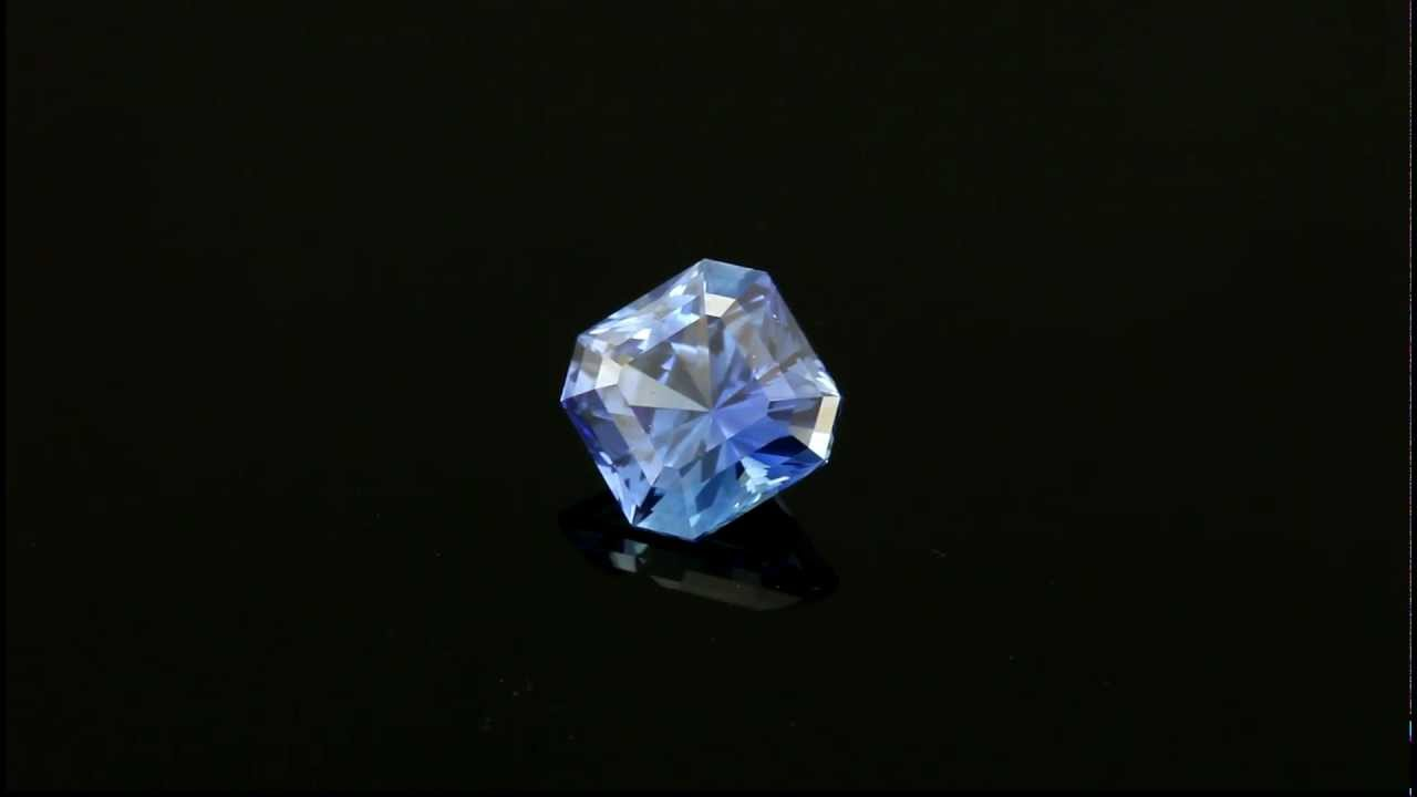 asscher sapphire ring cz silver amazon synthetic art dp cut sterling deco blue sapphires baguette com