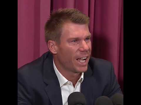 David Warner's tearful apology