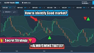 Olymp trade India (Hindi) | How to know good or bad Market? | Secret strategy