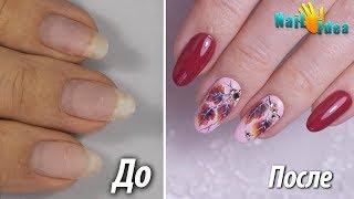 ►Маникюр на Осень: Рисую листики на ногтях и стразы►Делаю укрепление базой и покрытие гель лаком