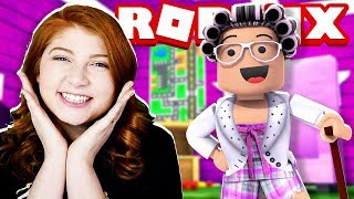 BECOMING A ROBLOX GRANNY WITH MY SISTER! (Fashion Famous)