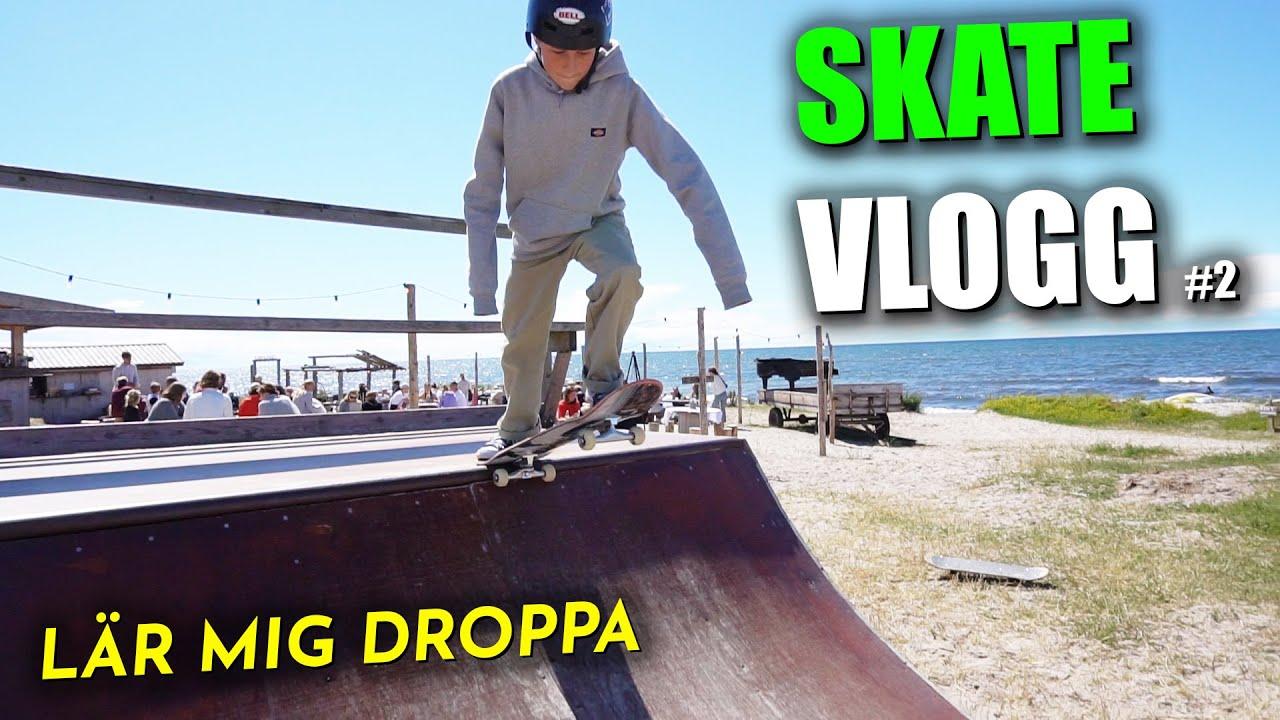 skate vlogg #2 → ÄR PÅ GOTLAND & LÄR MIG DROPPA!