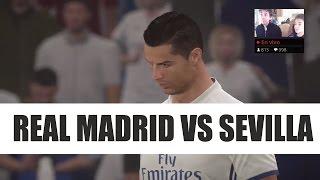 REAL MADRID vs SEVILLA EN DIRECTO | SIMULACIÓN COPA DEL REY 2017 FIFA