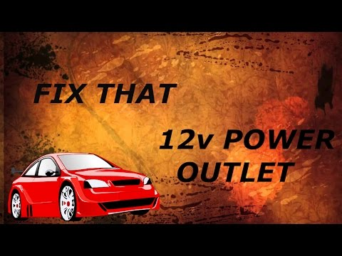How To Fix The Cigarette Lighter Outlet On A 2002 Mitsubishi Eclipse