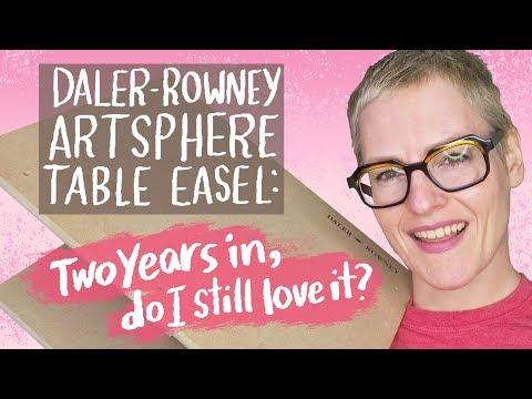 Daler Rowney Artsphere Table Easel Two Years Later Review Kathy Weller Art #tableeaselreview