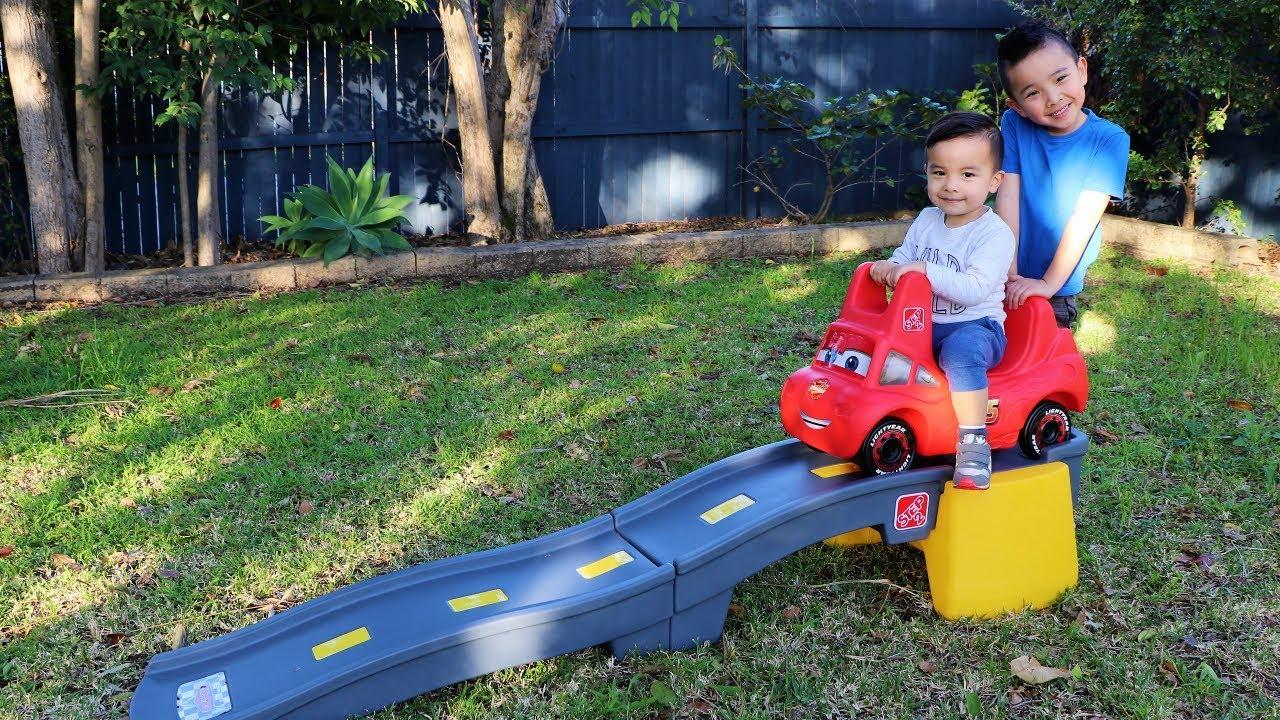 Disney Cars 3 Roller Coaster Backyard Fun Playtime With Ckn Toys