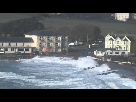 Freshwater Bay hit by Storm Imogen 8th February,2016