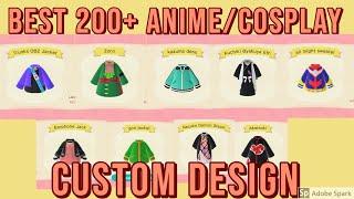 200+ Anime/cosplay Custom Designs Creator Codes In Animal Crossing New Horizons - One Piece Naruto