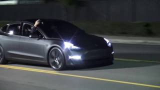 Tesla Model 3 — Test Track Video (#CleanTechnica Exclusive From Unveiling Night)