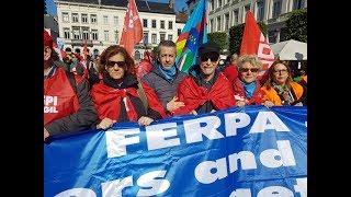 """(ITALIANNETWORK TV) PENSIONATI EUROPA - SICILIANO : FERPA VOCE 100 MILIONI PENSIONATI"""""""