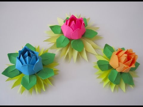 DIY: Rose/Water Lily/Seerose (easy/leicht)
