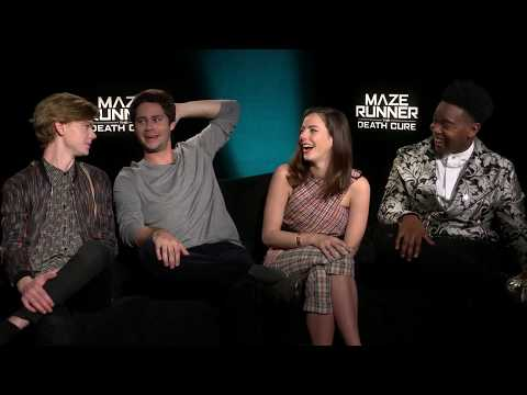 MAZE RUNNER THE DEATH CURE: Dylan O'Brien, Thomas BrodieSangster, Kaya Scodelario & Dexter Darden
