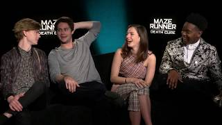 MAZE RUNNER THE DEATH CURE: Dylan O'Brien, Thomas Brodie-Sangster, Kaya Scodelario & Dexter Darden